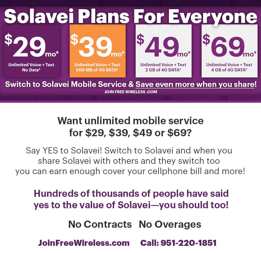 Solavei Coverage Map Enroll Now! Contact Us